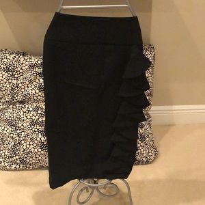 Express Pencil Skirt with Side Ruffle Detail